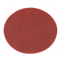 15 Inch (368mm) Red Floor Pads