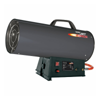 Draper Jet Force Propane Space Heater - 136,000 BTU - 40kW