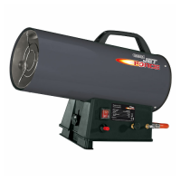 Draper Jet Force Propane Space Heater - 50,000 BTU - 15kW