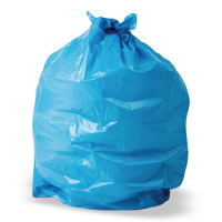 Medium Duty Refuse Sacks Flat Packed - Blue - Box 200