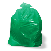 Medium Duty Refuse Sacks Flat Packed - Green - Box 200