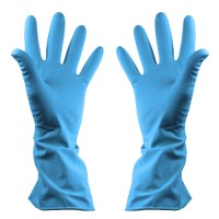 Shield 2 Household Rubber Gloves Blue - Pack 12 Pairs - Extra Large