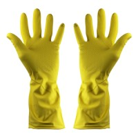 Shield 2 Household Rubber Gloves Yellow - Pack 12 Pairs - Medium
