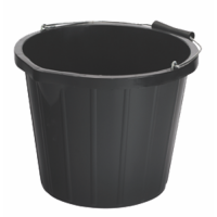 15L Black Industrial Bucket