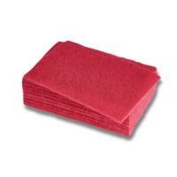 Scouring Pads Standard Grade Red 15X23cm Pack 10