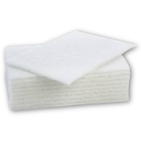 Scouring Pad Standard Grade White 15X23cm Pack 10