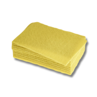 Scouring Pads Standard Grade Yellow 15X23cm Pack 10