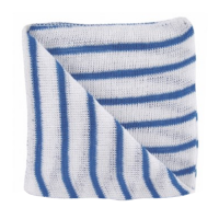 Striped Stockinette Cleaning Cloth - Blue - Pack 10