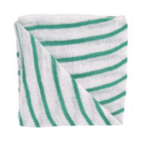 Striped Stockinette Cleaning Cloth - Green - Pack 10