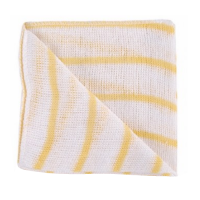 Striped Stockinette Cleaning Cloths - Yellow - Pack 10