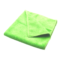 Contract Microfibre Cloths - Green - Pack 10