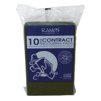 Contract Scouring Pads - Green Pack 10