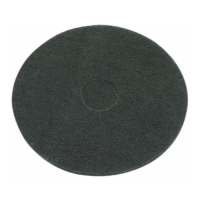 17 Inch (432mm) Black Floor Pads