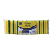 10 Sponge Scourers 140 x 70mm - Pack 10