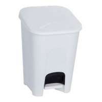 16L Bathroom Bin with Pedal (White)