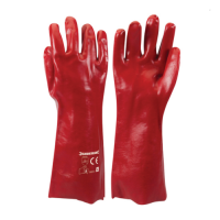 Red PVC Gauntlets - Pair